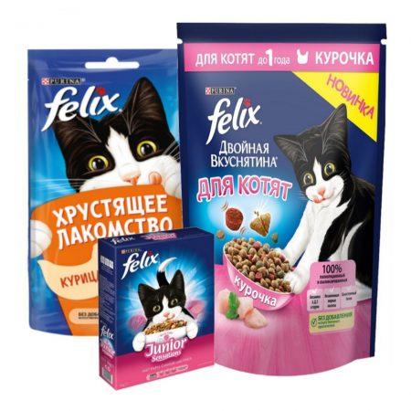 Корм для котов Felix